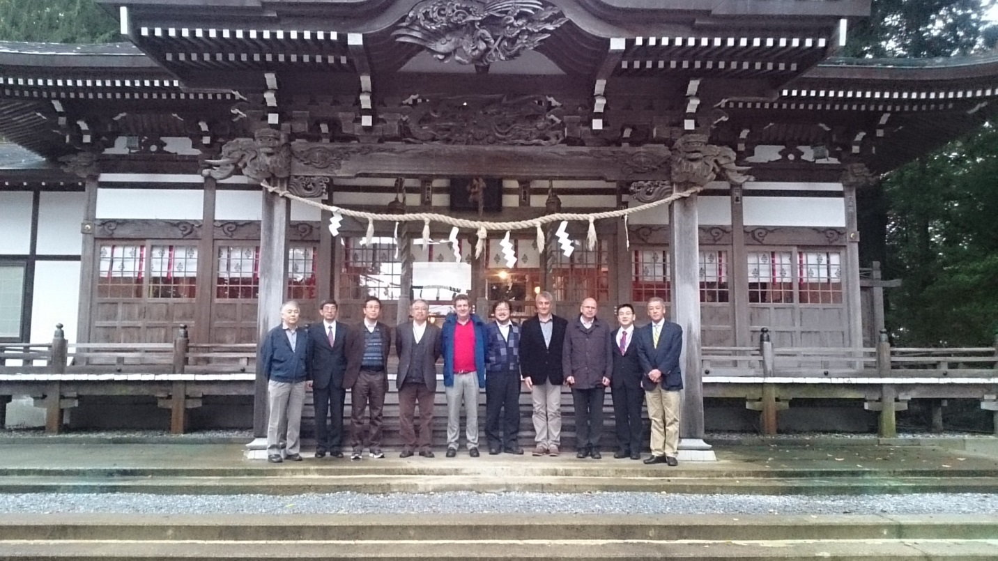 Project management from JAEA, F4E and PT at the Hachimangu Temple in Noheji